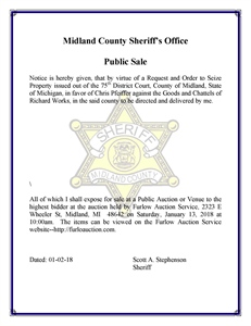 Midland County Property Tax Auction