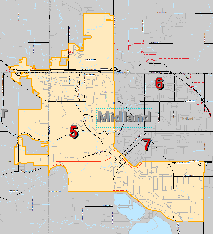 County Of Midland Michigan Commissioners Districts District 5