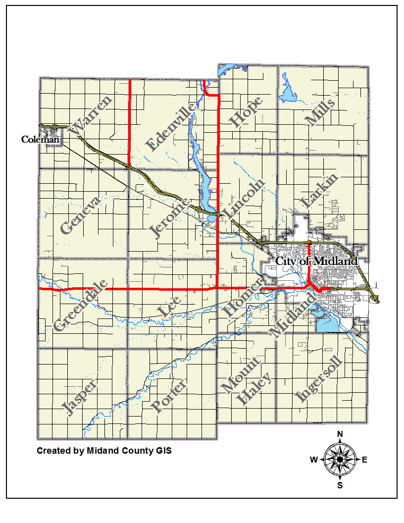 County of Midland Michigan  Equalization  Tax Maps