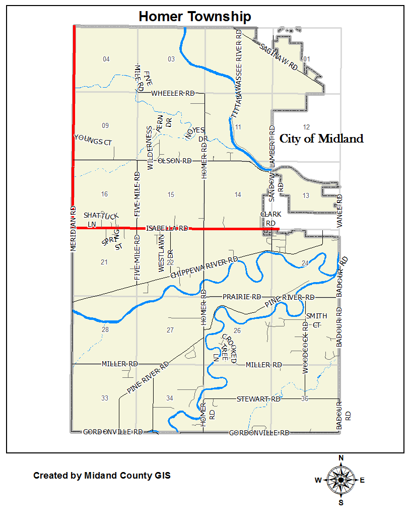 County Of Midland Michigan Equalization Tax Maps Homer Township