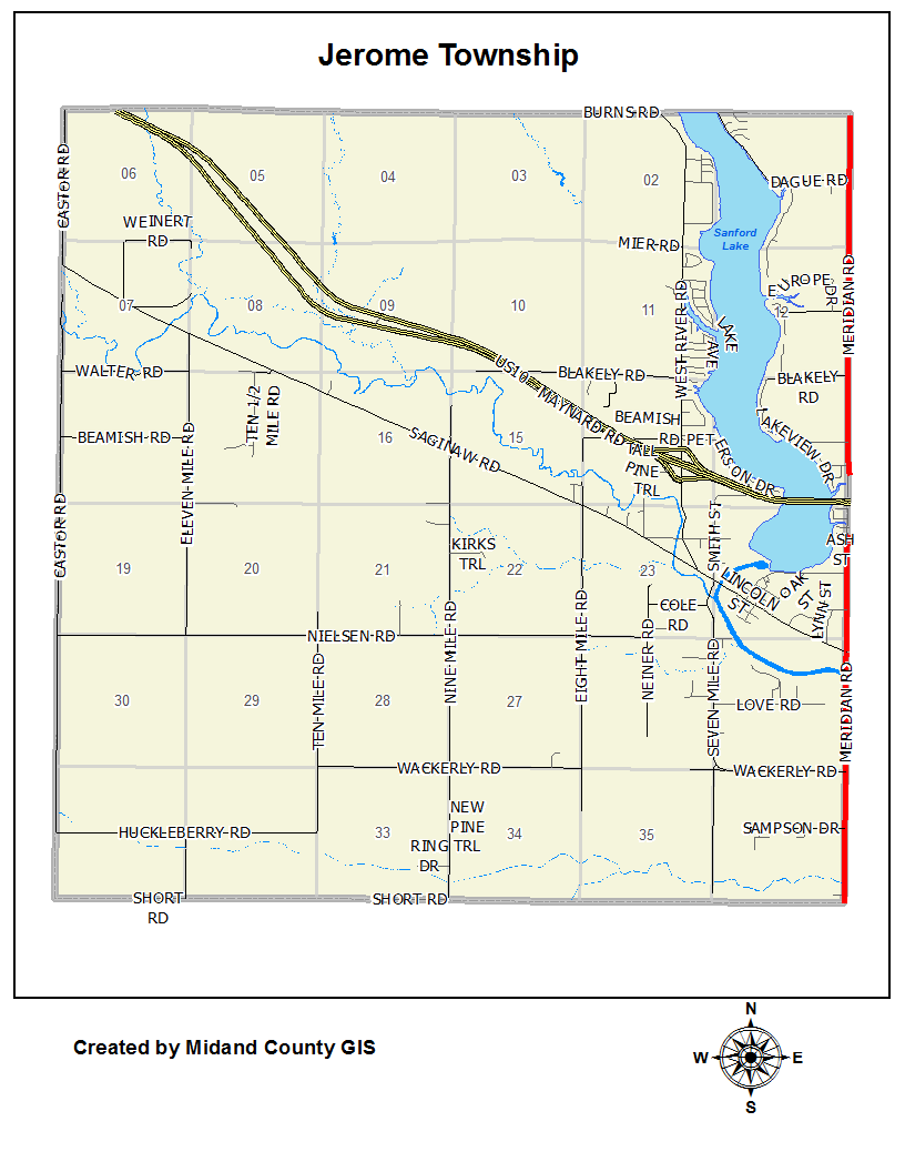 County Of Midland Michigan Equalization Tax Maps Jerome Township