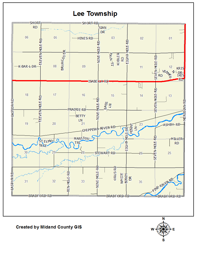 County Of Midland Michigan Equalization Tax Maps Lee Township